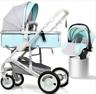 NEW! 3 COLOR Luxury 3In1 Baby Stroller Pushchair Infant W/ Basket Car Seat Buggy