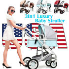Luxury 3In1 Baby Stroller Travel System Pushchair Baby Baby Basket Car Seats Buggy