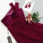 Ever-Pretty US Bridesmaid Prom Dress Sequins One-Shoulder Evening Gown Burgundy