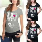 Women Maternity Halloween Short Sleeve Tops Cartoon T Shirt Pregnancy Blouse Tee