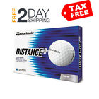 TaylorMade Distance Plus Golf Balls One Dozen White Low Drag Aerodynamic Design