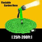 Expandable Flexible Garden Hose Water Pipe Spray Gun Nozzle Car Wash 25-200Ft