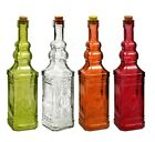 Glass Bottles Colorful Vintage with Cork Tops or Flip-Top Metal (Variety)