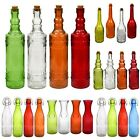 Glass Bottles Colorful Vintage with Cork Tops or Flip-Top Metal  Variety