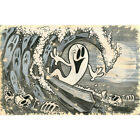 Beyond The Watery Grave by Shawn Dickinson Surf Rolled Canvas or Paper Art Print