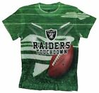 Oakland Raiders TOUCHDOWN NFL Youth T-Shirt Shirt, Green $8.99 USD on eBay