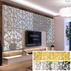 Decor Living Room Tv Backdrop Flower Decal  Mirror Surface Wall Stickers Mural