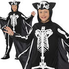 Bat Skeleton Costume Halloween Boys Childrens Child Kids Fancy Dress Outfit