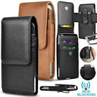 Cell Phone Holster Pouch Leather Wallet Case with Belt Loop for iphone Samsung