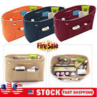 Women Handbag Organizer Bag Purse Insert Bag Felt MultiPocket Tote Useful Bag US image