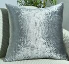 NEW Crushed Velvet Cushion Covers Luxury Plush Plain 17