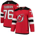 adidas PK Subban New Jersey Devils Red Authentic Player Jersey