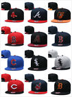 Fitted Cap Flat Brim Teams Adjustable Snapback Baseball Hat on Ebay