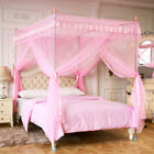 Pink Princess  4 Corner Post Bed Canopy Curtain Mosquito Net Twin Full Queen image
