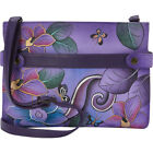 ANNA by Anuschka Hand Painted Leather Medium Crossbody Cross-Body Bag NEW