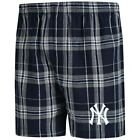 Concepts Sport New York Yankees Navy/Gray Hillstone Flannel Boxers on Ebay