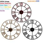 40CM Wall Clock Large Metal Home Decor Modern Round Roman Outdoor Antique Vintag
