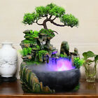 Rockery Water Fountain Desktop Chinese Fengshui Lamp Indoor Home Office Decor