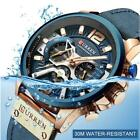 CURREN Men Analog Leather Sports Watches Army Military Watch Date Quartz Relogio image