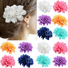 Rose Flower Bridal Hair Clip Hairpin Brooch Wedding Bridesmaid Party Accessories image