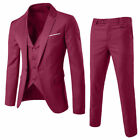 Business Men's Suit Slim 2 Or 3-Piece Suit Blazer Wedding Party Jacket Vest Pant