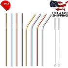 2x 4x 8x Reusable Stainless Steel Metal drinking Straws- Long 8.5 Inch for 20oz on Ebay