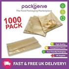 Film Front Brown Paper Bags - Cellophane/Window/Clear/Sandwich/Food/Card/Cake
