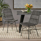 Silverdew Indoor Wicker Dining Chairs (Set of 2)