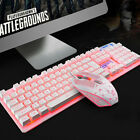 New Colorful LED Gaming Wired 2.4G 1200DPI USB Optical keyboard & Mouse Mice Set