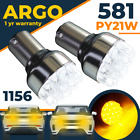 581 Indicator Bau15s Py21w Led Bulb Amber Yellow Front Rear 1156 Turn Signal 12v