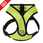 Breathable Small Dog Mesh harness Vest Collar soft chest strap , X Design Green