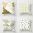 Pink Polyester Pillow Case Sofa Car Waist Throw Cushion Cover Home Decoration image