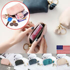 Women Portable Small Soft Leather Zipper Mini Wallet Coin Purse Key Clutch Bag O image