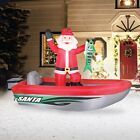 10' Airblown Fishing Santa Christmas Inflatable