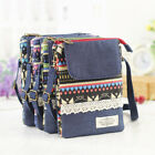 Small Canvas Crossbody Messenger Bag Zipper Cell Phone Pouch Purse Adjustable Us