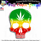 Rasta Skull Weed Reggae Vinyl Decal Sticker Window Truck Car Wall Laptop.