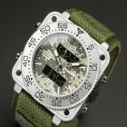 INFANTRY Wrist Watches Nylon Fabric Canvas 200-215mm Strap Square Shape Green US image