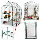 Walk In Greenhouse PVC Plastic Garden Compact Tomato Grow House Frame Shelves for sale  United Kingdom