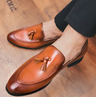 England Mens Leather Shoes Dress Shoes Casual Slip On Loafers British Shoes New