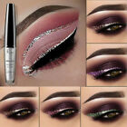 NEW Waterproof Metallic Shiny Smoky Eyeshadow Glitter Liquid Eyeliner Makeup