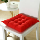 New Plain Seat Pad Dining Room Garden Kitchen Chair Cushions Tie On G5UK