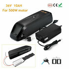 36V 10Ah 500W Downtube Lithium Li-ion Battery Pack E-Bike Electric Bicycle Motor <br/> For Max Motor 500W,Mounting plate,Charger,Keys