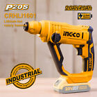 INGCO 20V Rotary Hammer Cordless Drilling Driver LED Lithium With 3 SDS Drills