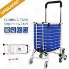 Foldable Shopping Cart 8-wheels Climbing Trolly Waterproof Removable Heavy Duty