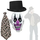 Adult Scary Joker Costume Accessory Kit for Halloween Horror Circus, Evil Jester