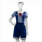 New Stranger Things 3 Robin Scoop Ahoy Cosplay Costume Uniform Dress Outfit Set