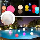 Solar Powered LED Floating Ball Light Swimming Pond Pool Outdoor Path Decor $5.86 USD on eBay