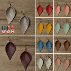 2019 Spring Summer Leaf Leather Teardrop Bohemian Drop Earrings Trendy Jewelry # image