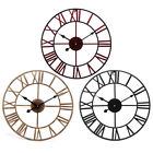 40CM Vintage Roman Numerals Giant Open Face Metal  Wall Clock Large Outdoor