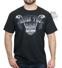 Harley-Davidson Mens  B&S Ape Hangers Skeleton Hands Black Short Sleeve T-Shirt image